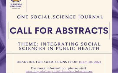 PSSC's One Social Science Journal: Call for Abstracts
